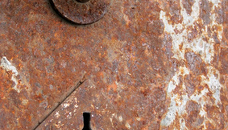 Rusty antique safes can be refinished.