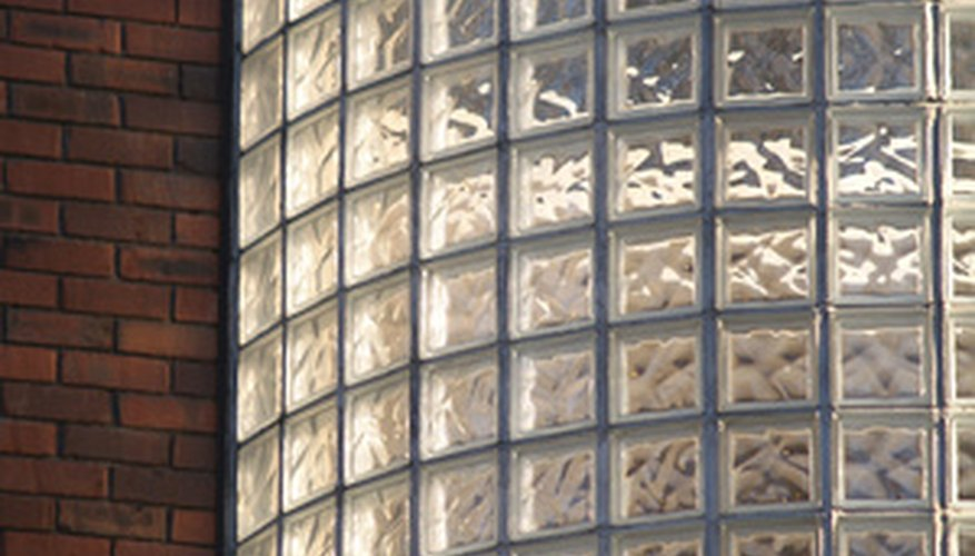 Glass block lends itself to designs that play with light.