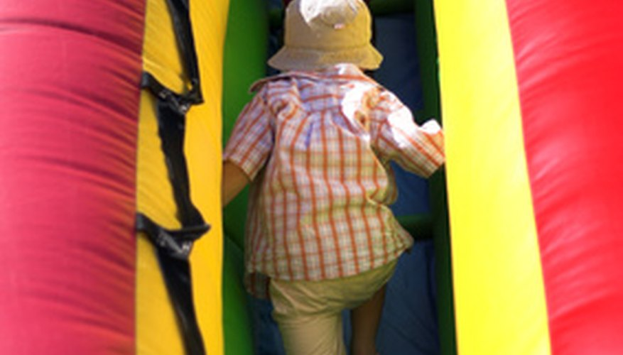 Bouncy castles get damaged and need frequent repairs.