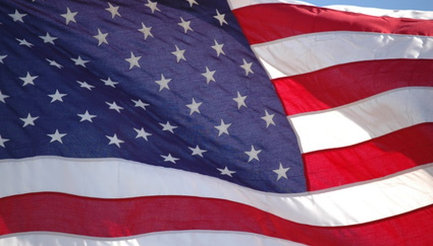 There are rules regarding the treatment of the American and Christian flags.