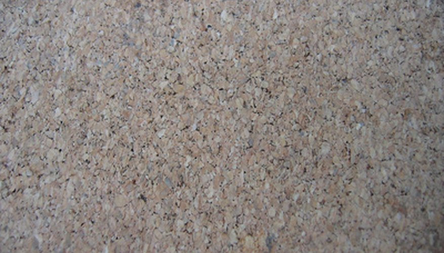 Cork tiles naturally absorb sound and moisture.