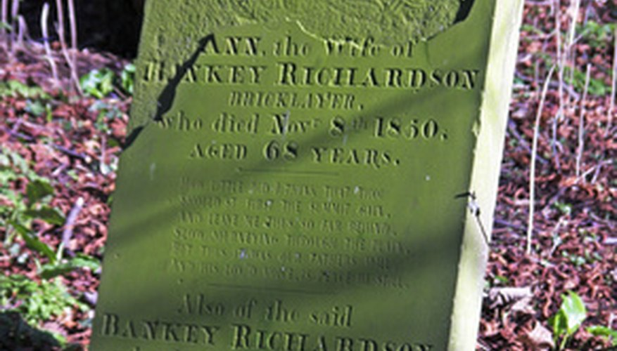 Bless a gravestone as part of the releasing process of grief.