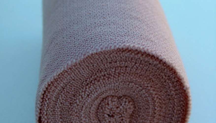 An elastic bandage can provide necessary compression and support for shin-splint sufferers.