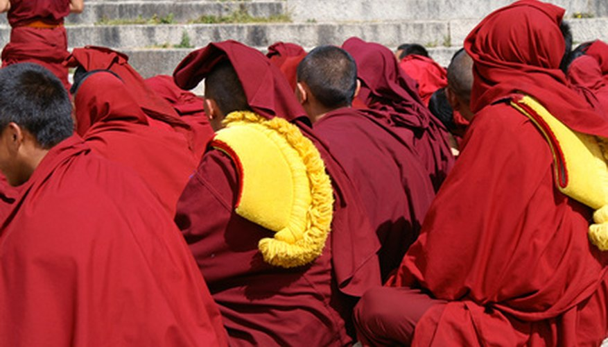 Folding Buddhist monk's robes is a tradition.