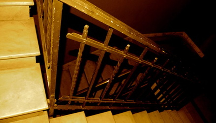 Clean sticky wood stair handrails with basic household ingredients.