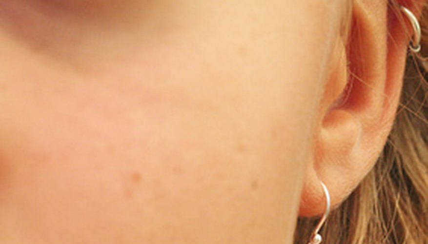 Pay particular attention to hygiene when your ears are newly pierced.
