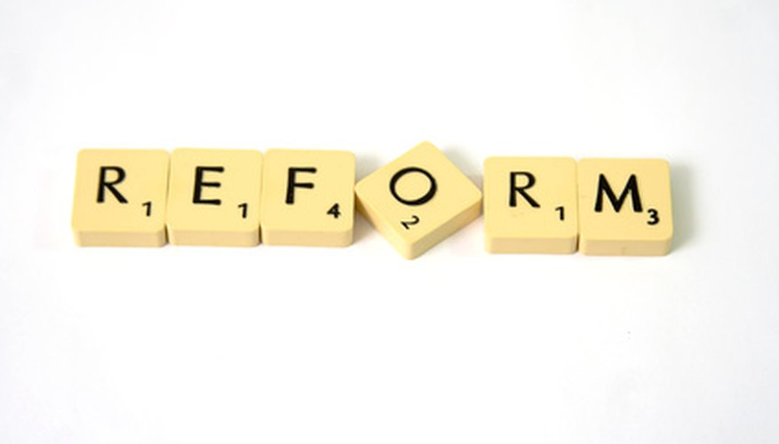 Educational change often means eductional reform.