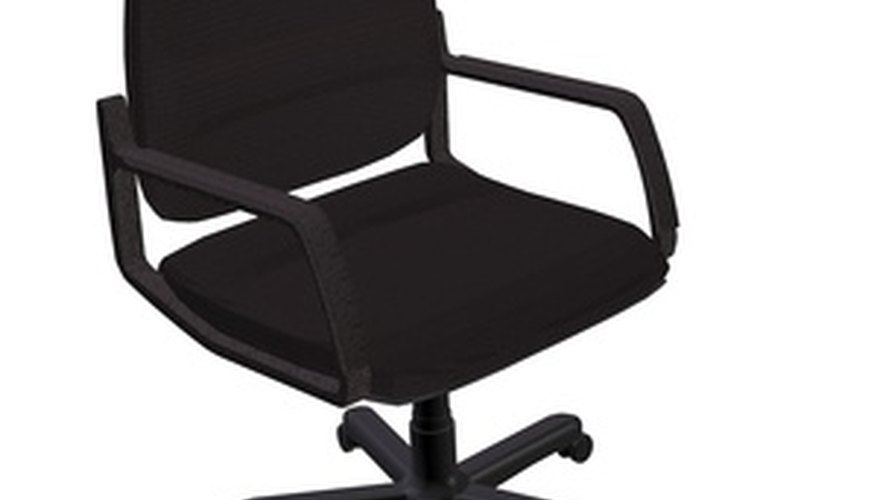 Remove the chair back to reupholster your office chair.