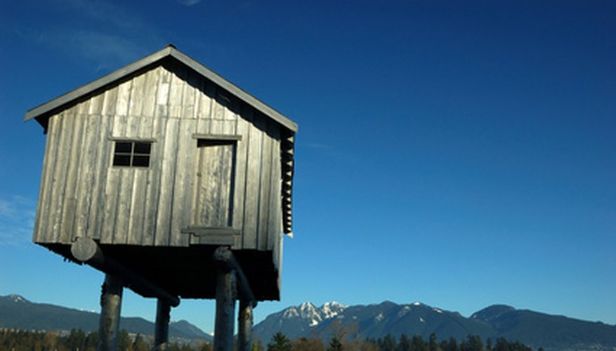 Raise a shed on stilts for flood safety