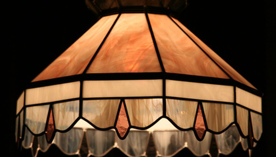 Change the look of a hanging lamp by switching out the shade.