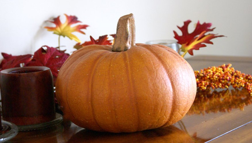 Fall items can be incorporated into church decor.