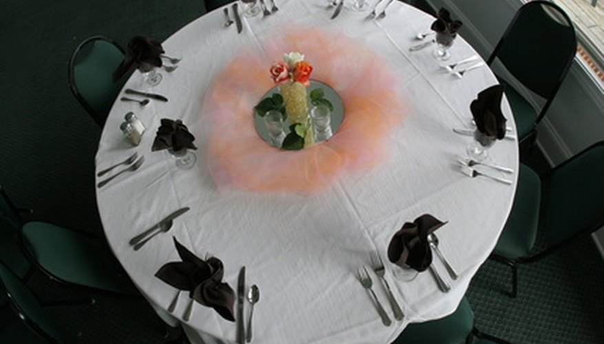 The round banquet style is most common at wedding receptions.