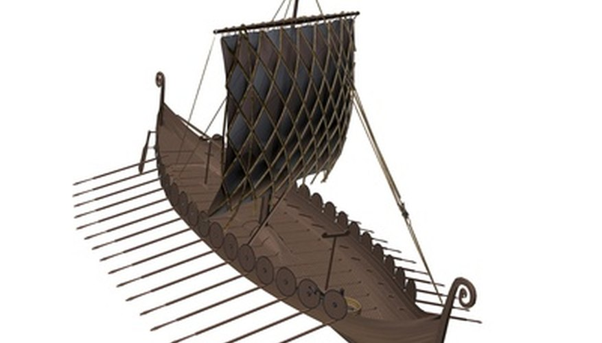 You can make a model of a Viking longboat out of basic craft supplies.