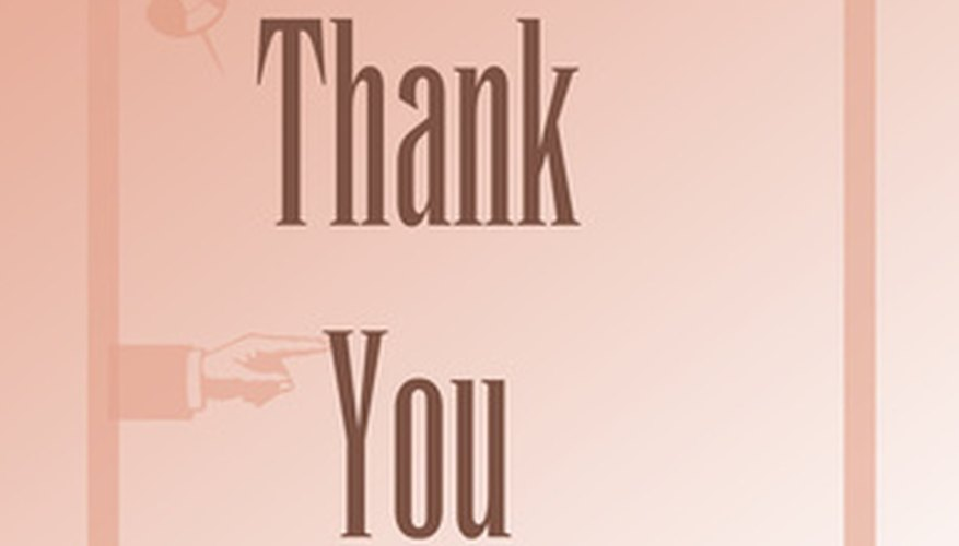 Thank the clergyman or clergywoman who provided support during a difficult time.