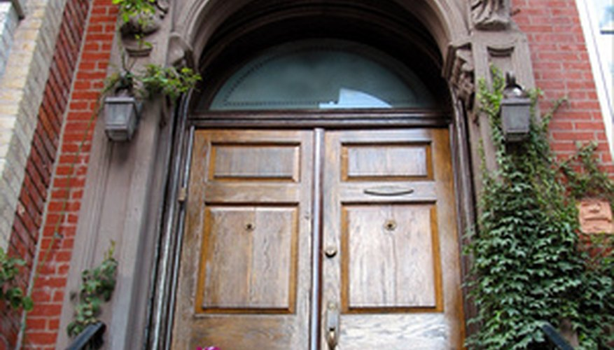 An oak door adds grace and class to any home.