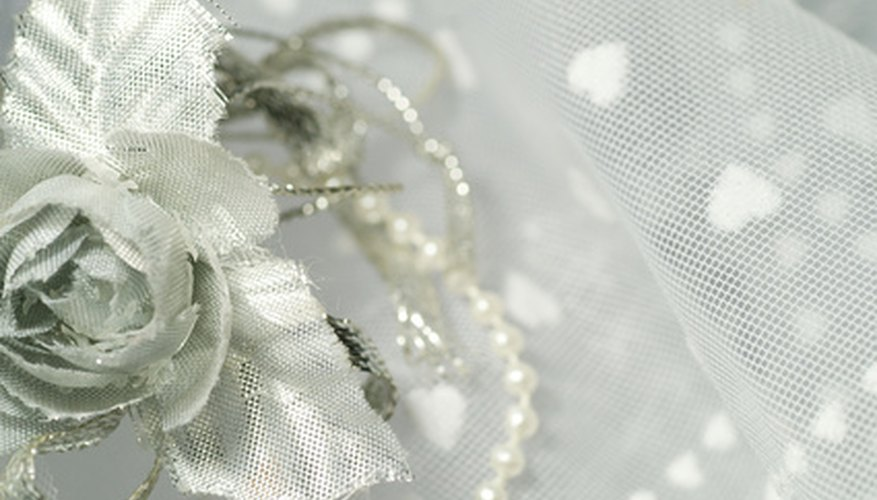 Tulle is often airy and white on wedding dresses, but the fabric comes in many colours and can easily be made stiff.
