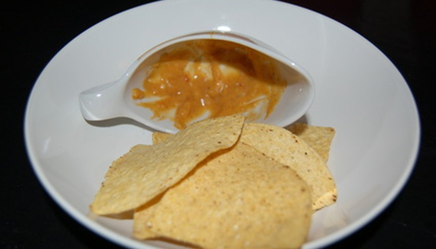 Nacho cheese sauce is easy to make.