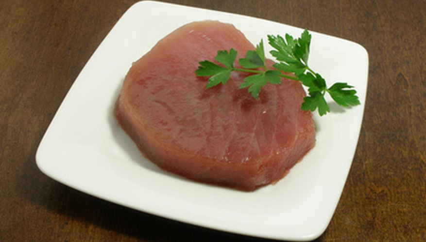 Tuna steaks can be grilled or pan seared.