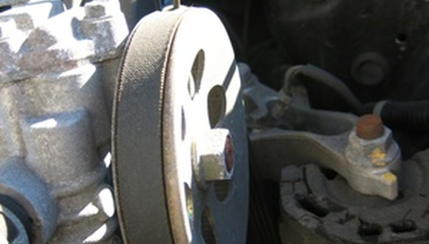 The serpentine belt provides power to all major components.
