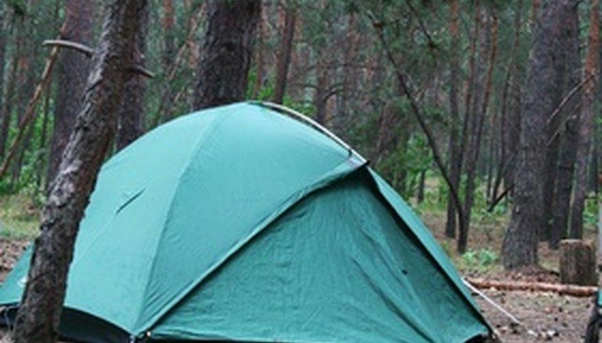 Tent constructed with fibreglass tent poles