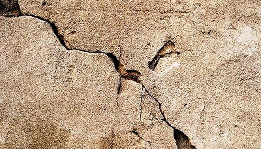 Cracked and crumbling concrete