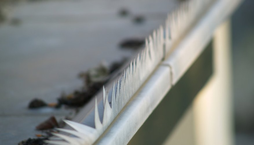 Installing gutter end caps is a simple enough process.