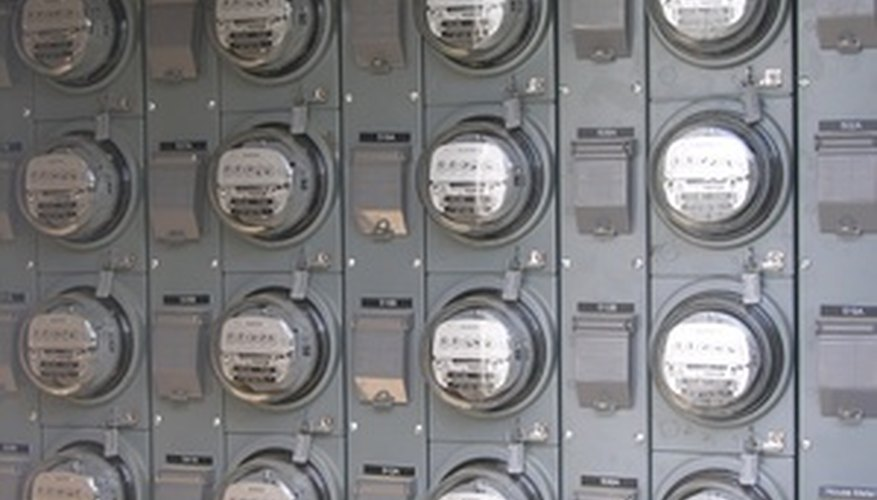 Banks of individual electric submeters