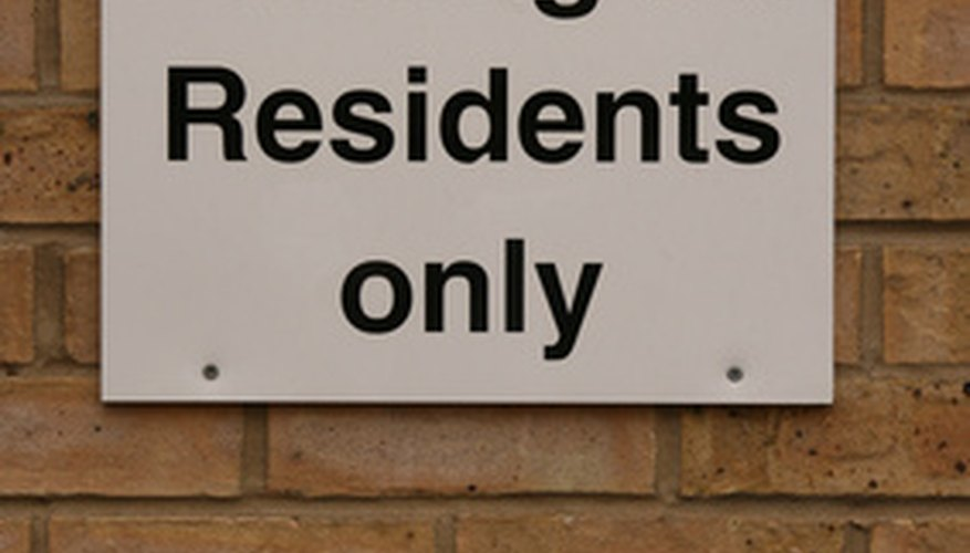 Apply to the local authority for a resident parking permit