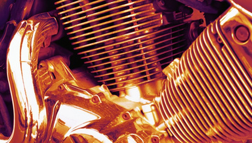 Painting a motorcycle engine can provide protection and add curb appeal.