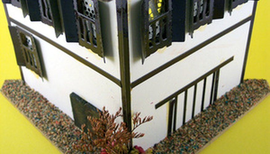 Foam Board can be used for realistic model houses