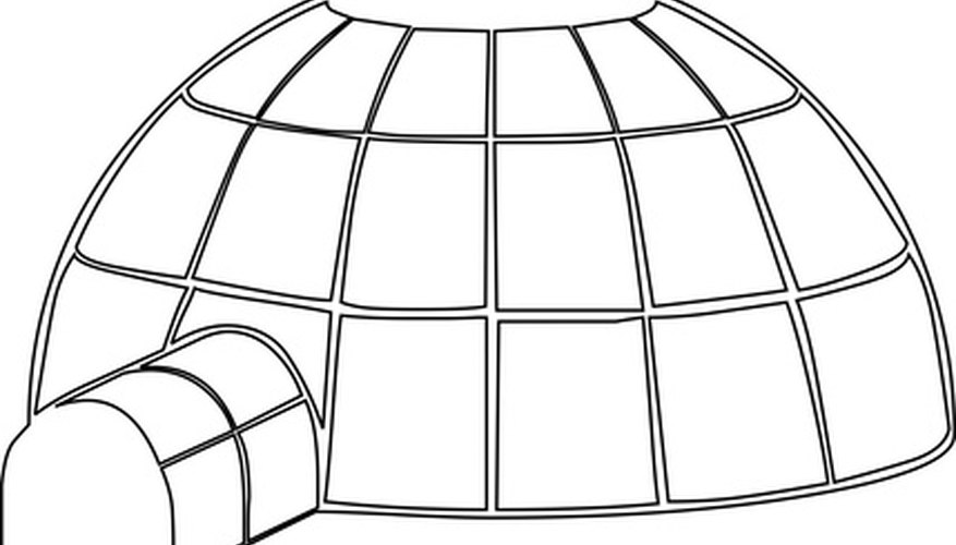 This is the basic shape of an igloo.