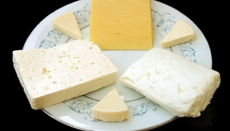 Create cheese plates on several tabletops so people can mingle.