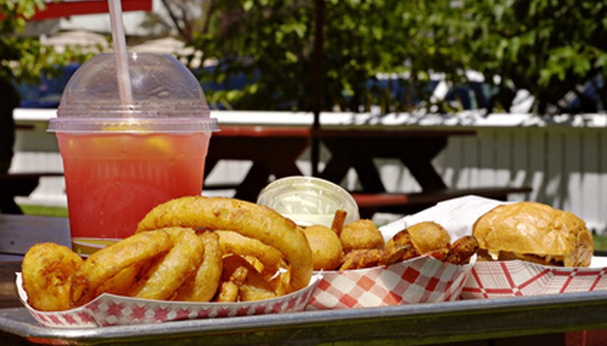 Fried, fatty foods qualify as unhealthy eating choices.