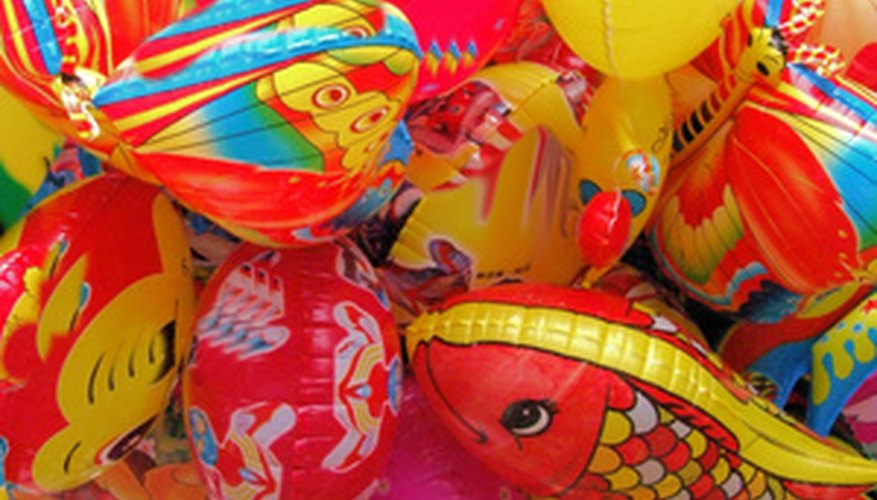 Balloons add a festive touch to a party.