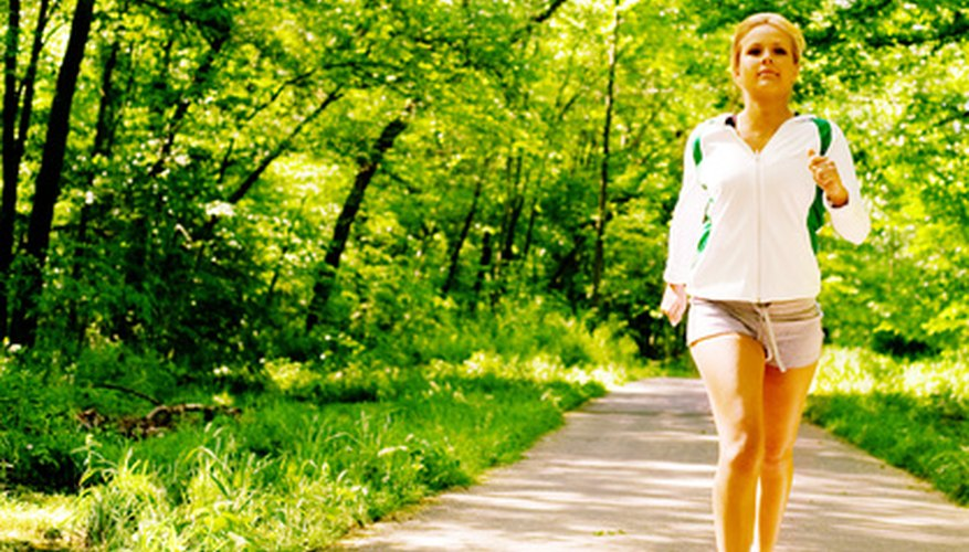 Running, jogging or walking are all excellent forms of cardiovascular exercise.