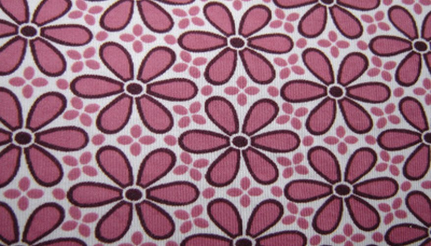 Painting on polyester can produce a variety of colours and designs.
