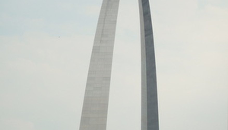 The St. Louis Gateway Arch exhibits one of the strongest types of possible arches.