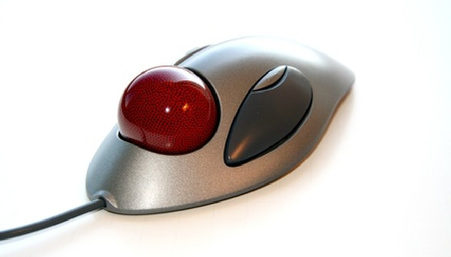The trackball mouse allows for better cursor manipulation without mobility.