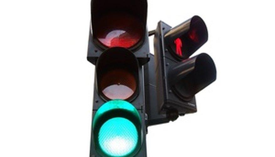 Teach children traffic safety with traffic light games.