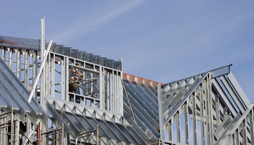 Steel beams are a durable way to frame a home.