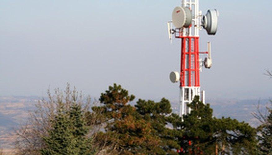 Phone masts are often taller than the surrounding vegetation.