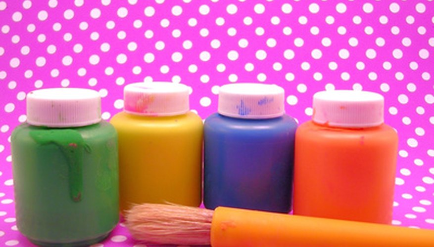 Use acrylic craft paints to decorate dried Plaster of Paris shapes.