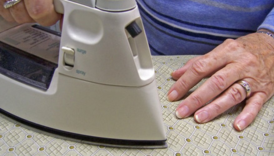 A home iron can be used to press military uniforms.