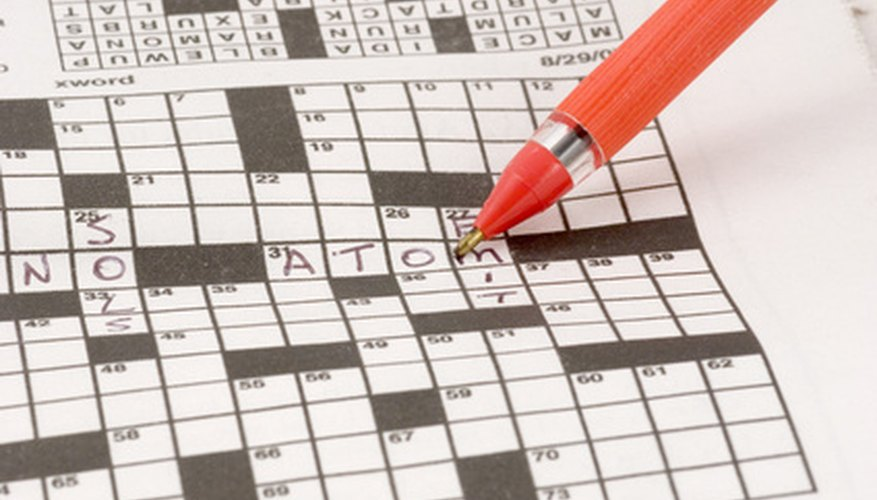 Crossword puzzles may include many words, or just a few.