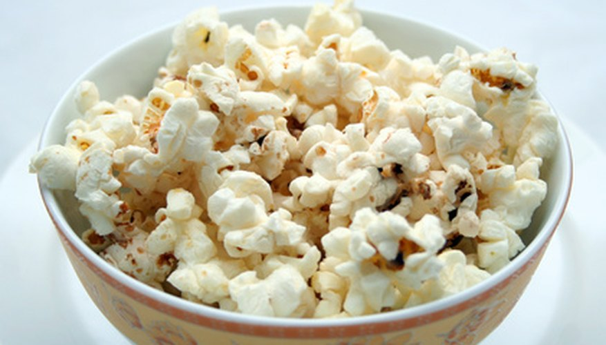 Popcorn  is a versatile snack that costs little to prepare.