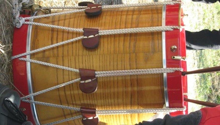 Make jungle sounds with a homemade drum.
