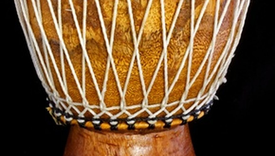 The djembe is one type of drum common to African music.