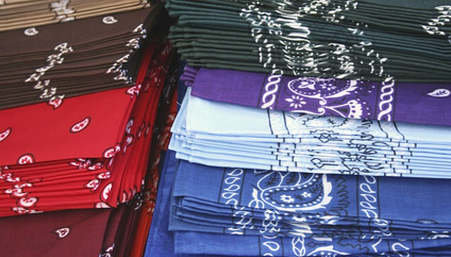 A bandana colour can represent group affiliation.