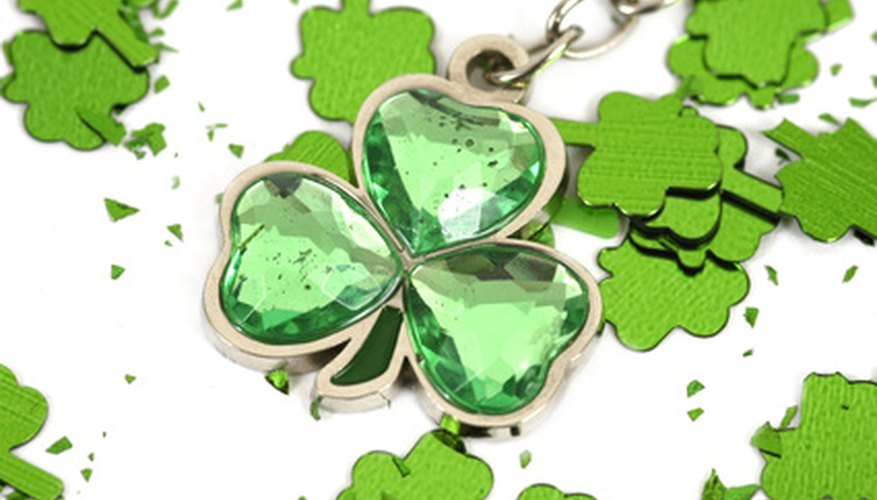 Irish traditional clothing does not have to be green, and does not usually feature shamrocks.