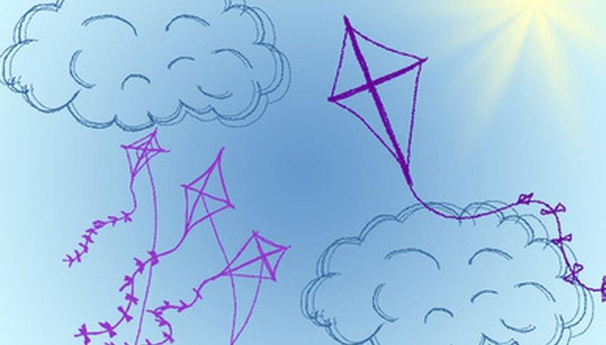 Preschoolers can make a simple kite.
